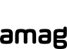 Amag logo desaturated